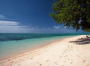 Beach scenery in Majuro Atoll, Marshall Islands