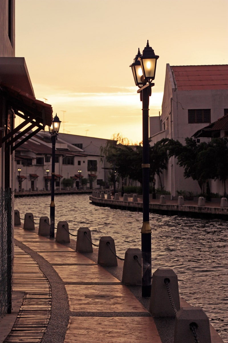 Evening in Malacca City, Malaysia