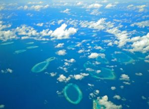 Some Maldive islands from above