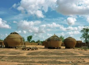 Traditional architecture in Maraadi region, Niger