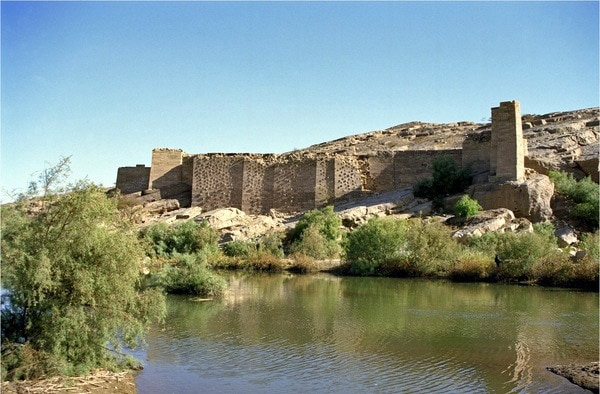 Remnants of the Great Dam of Ma'rib, Yemen