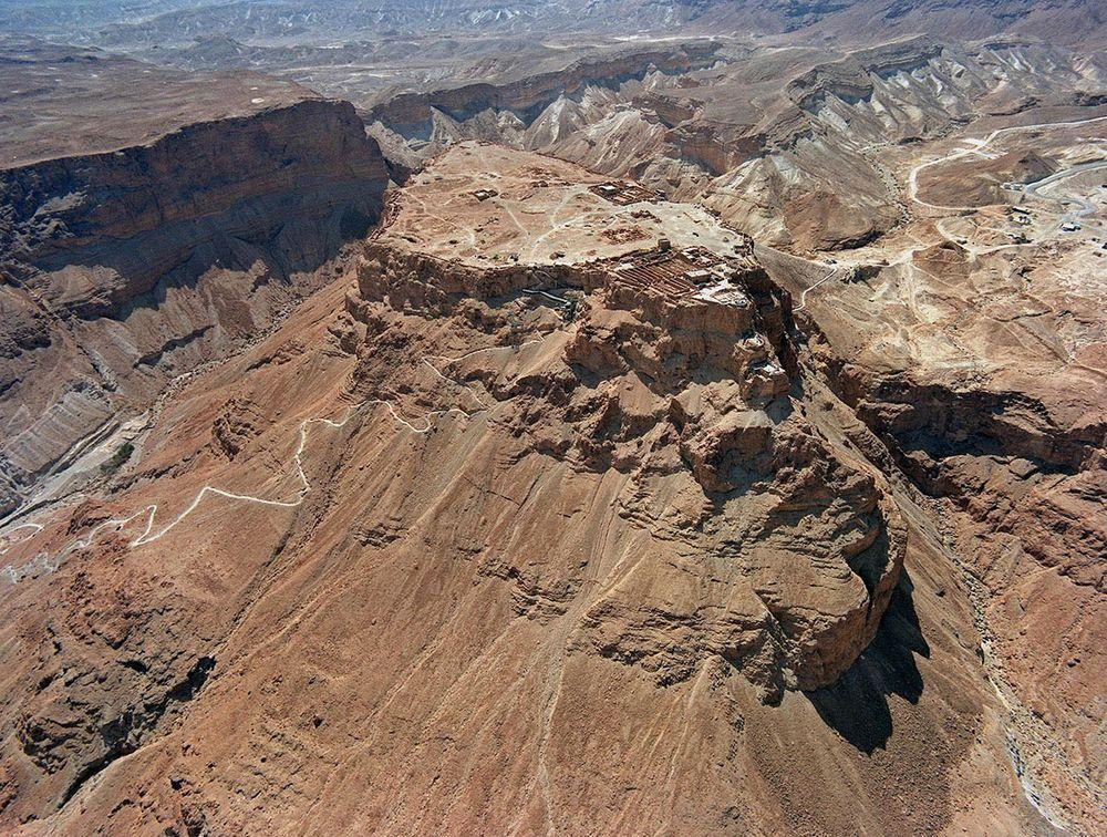 Masada with Snake Trail visible in the left side