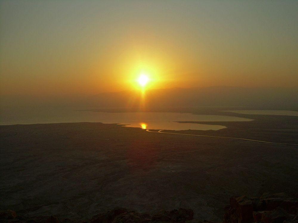 Dead Sea from Masada, Israel
