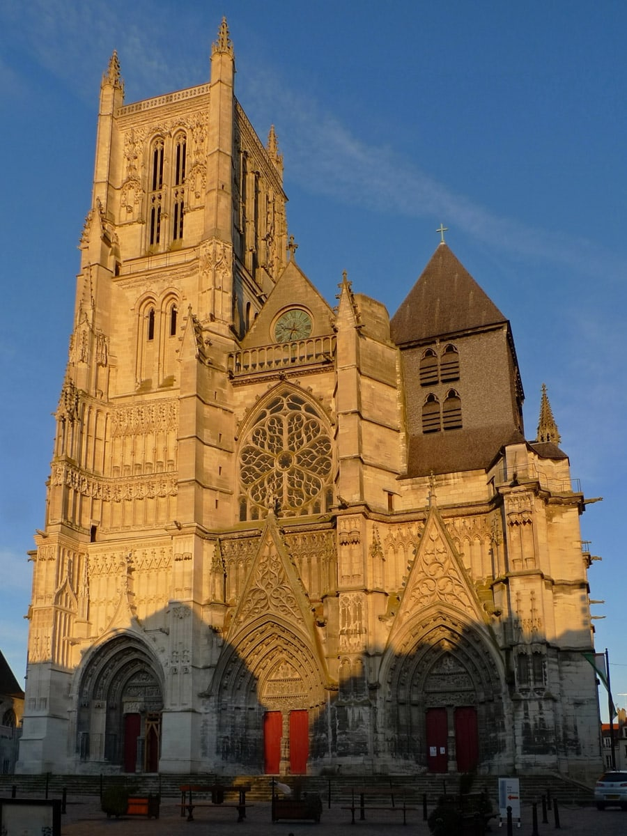 Western facade of Meaux Cathedral, France