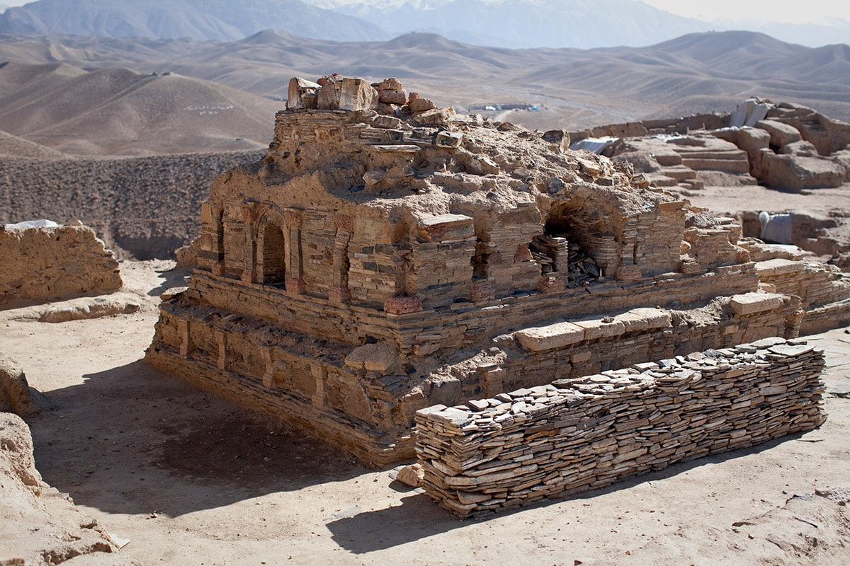 Ancient shrine in Mes Aynak, Afghanistan