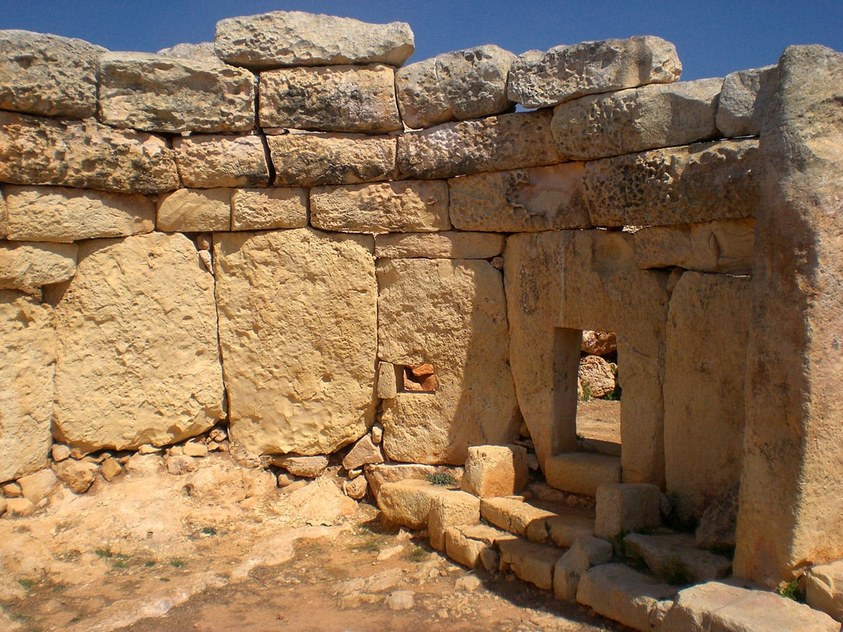 Mnajdra, lower temple. Such structures were created long before Stonehenge and Egyptian pyramids