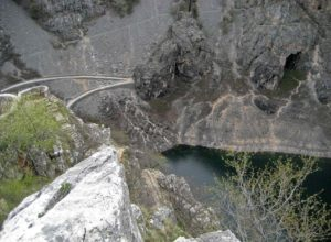 Modro Jezero (Croatia) from above. Seen the road built for the visit of Emperor Frantz Joseph I