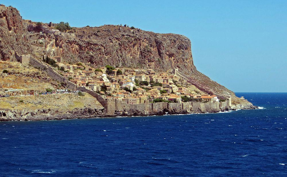Monemvasia (Greece) can be seen only from the sea