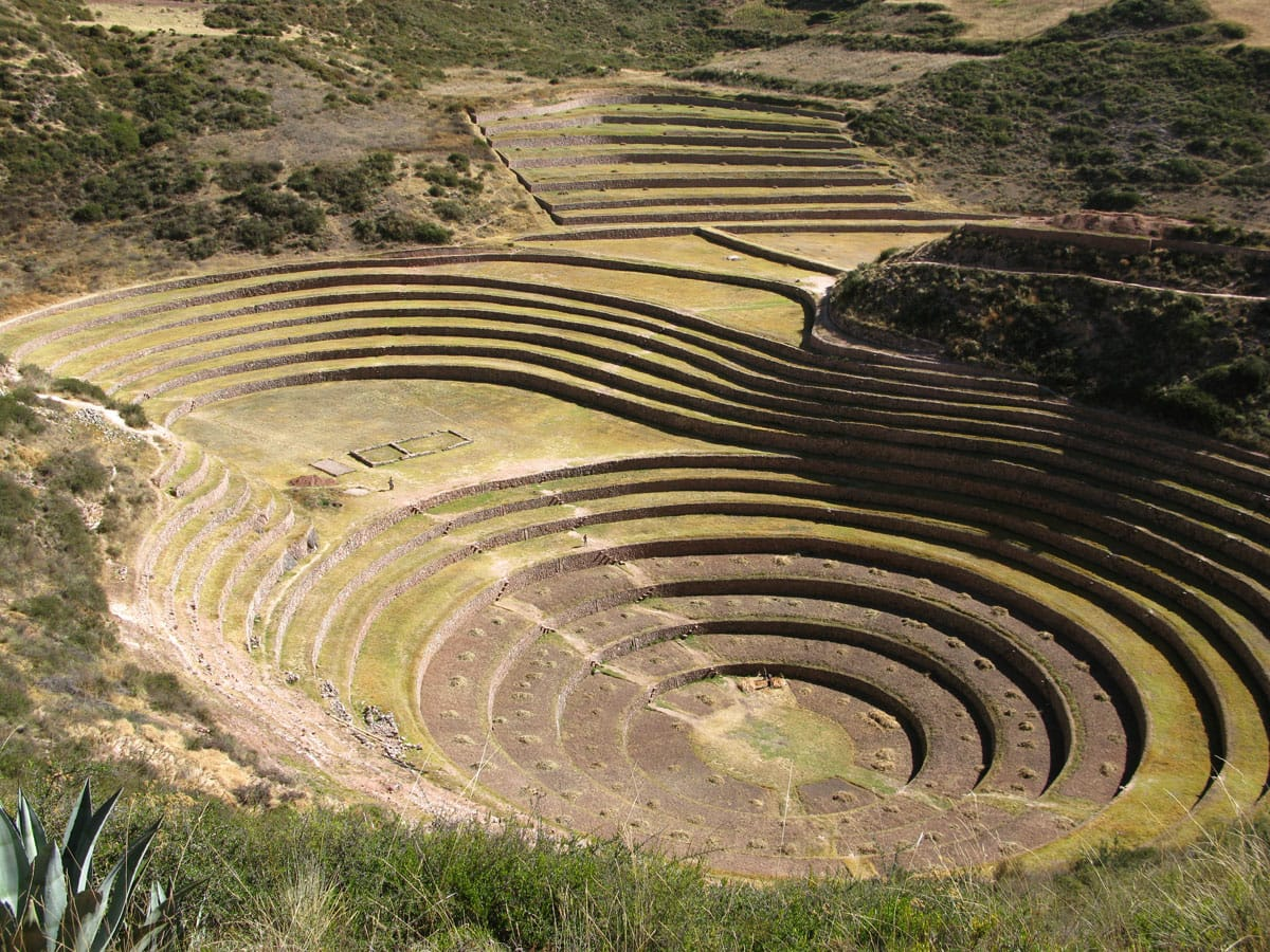 Agricultural terraces in Moray, Peru