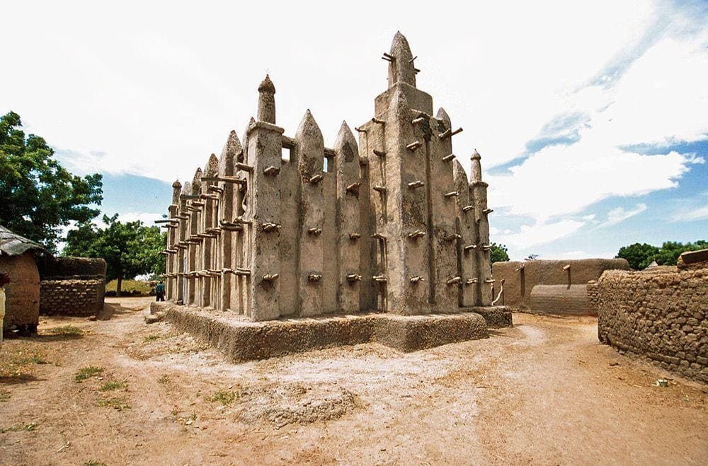 Typical mosque in Mali