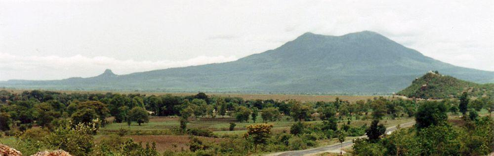 Mount Popa with Taung Kalat to the left, 1987, Burma