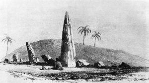 Msoura stone circle (Mezorah Ring) in 1830, Morocco