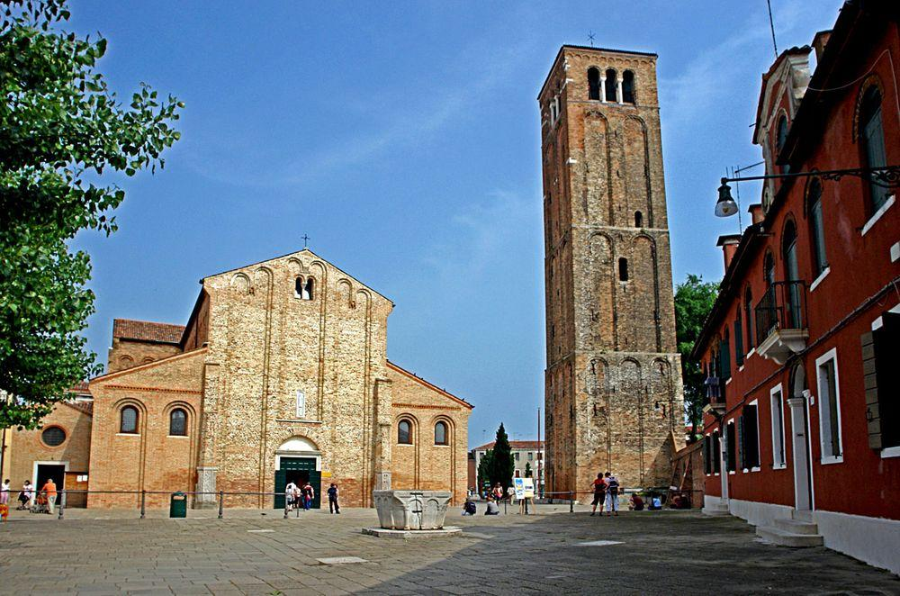 Main entrance and campanile, Santa Maria and San Donato Cathedral, Murano