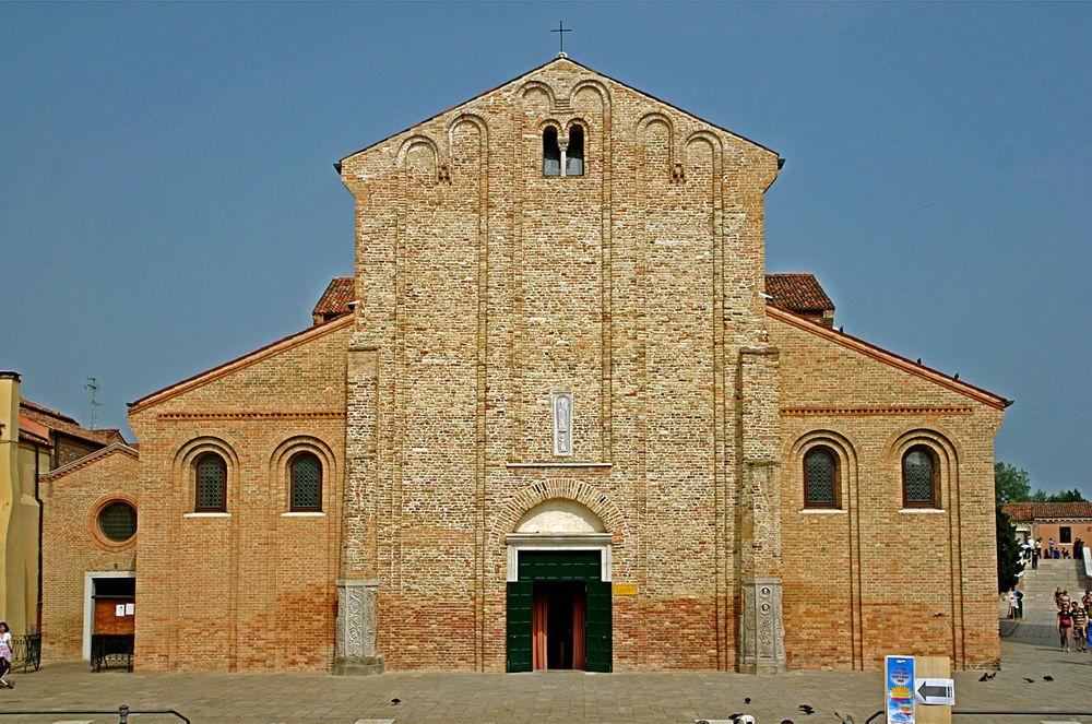 Main entrance in Santa Maria and San Donato Cathedral, Murano