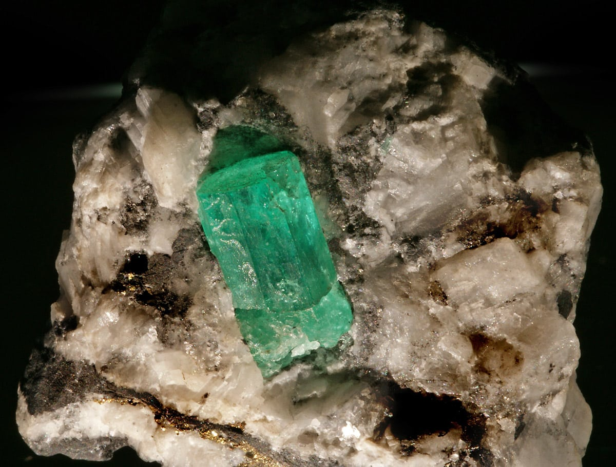 Emerald from Muzo mines, Colombia