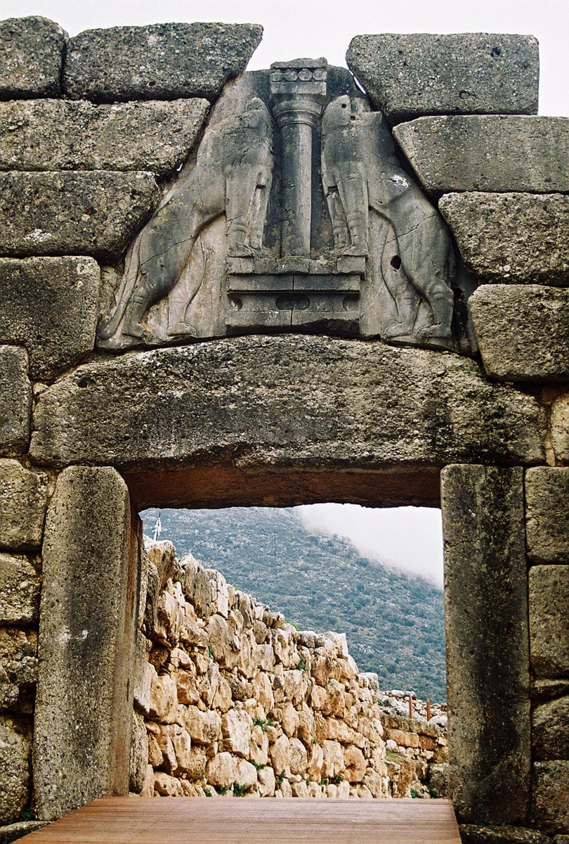 Lion Gate in Mycenae, Greece
