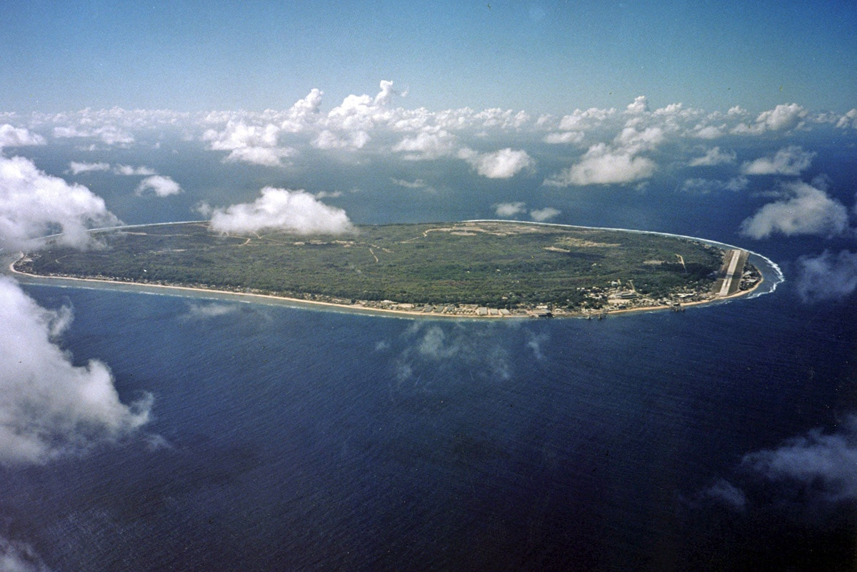 Nauru from above