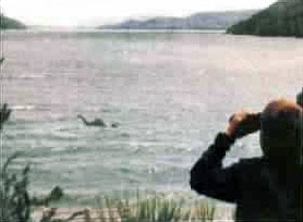 Purported image of Nahuelito - monster of Nahual Huapi Lake, Argentina