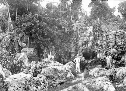 A cave in Nauru, 1917. It is possible that this is Moqua Cave