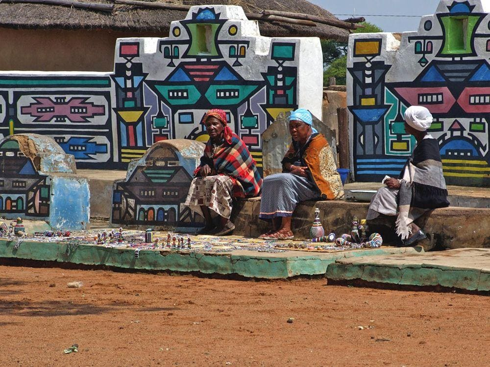 Traditional Ndebele village, South Africa