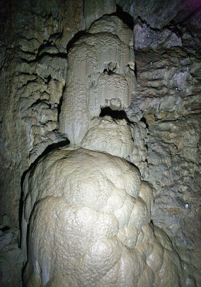 In New Athos Cave, Georgia