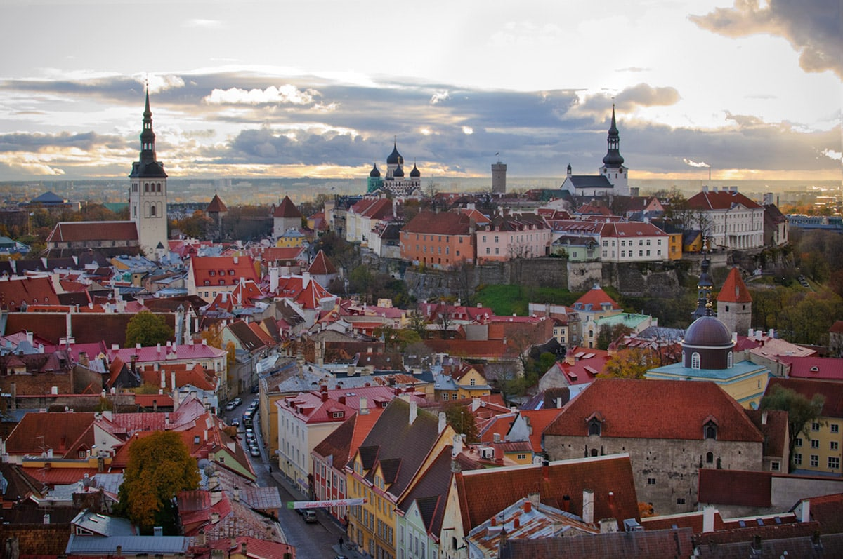 Old Tallinn from St. Olaf's Church tower