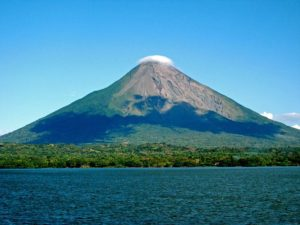 Concepción volcano on Ometepe island (Nicaragua) - the tallest lake island in the world