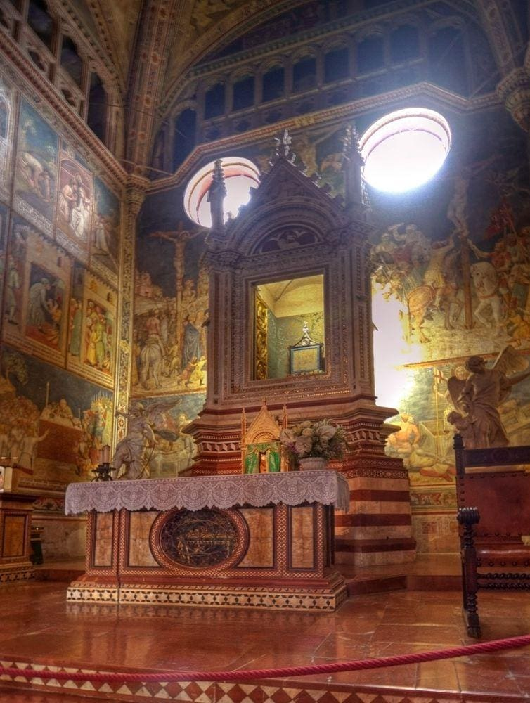 Chapel of the Corporal, Orvieto Cathedral in Italy