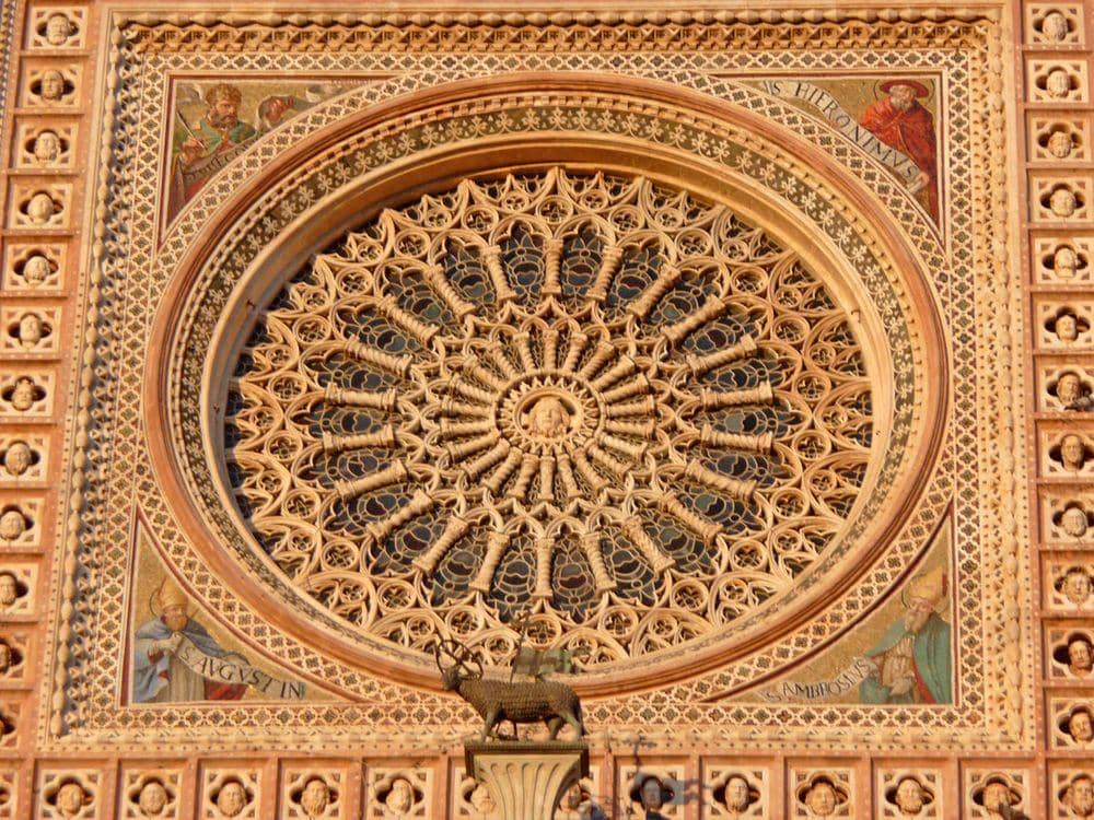 Rose window of Orvieto Cathedral, Italy