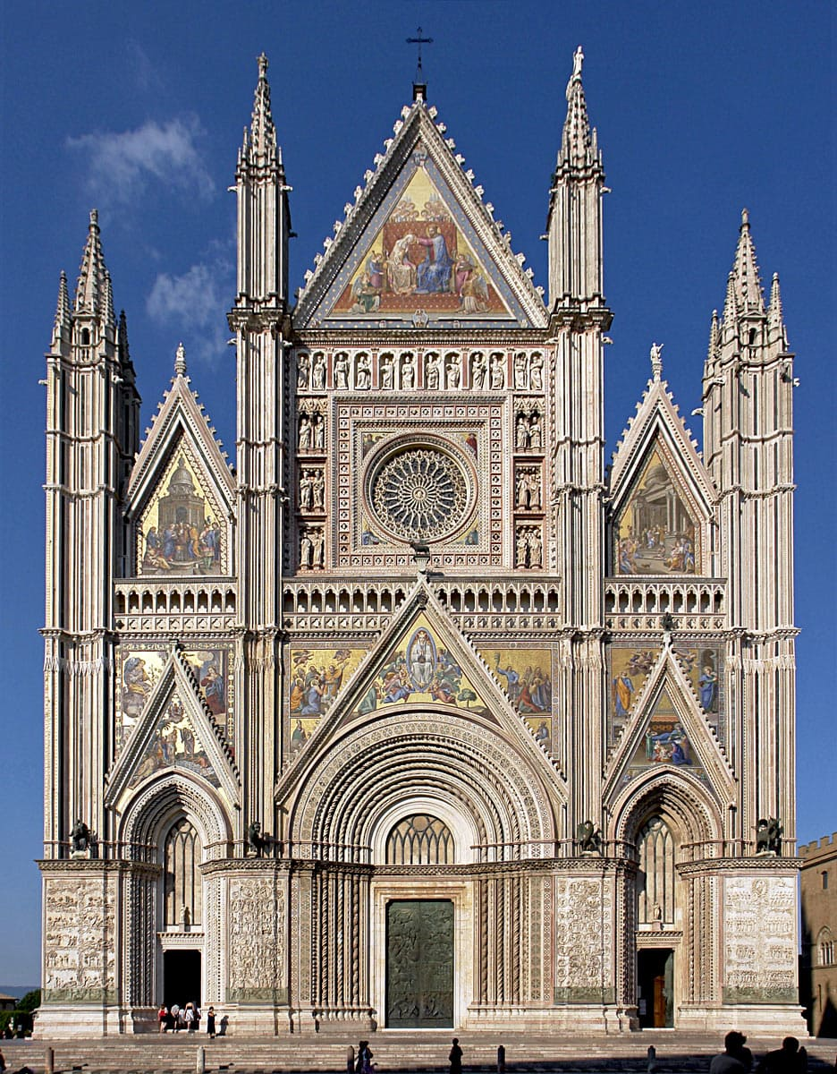 Facade of Orvieto Cathedral, Italy