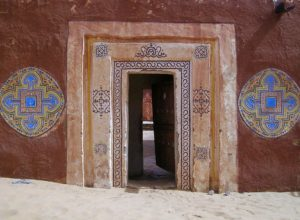 Traditional architecture in Oualata, Mauritania