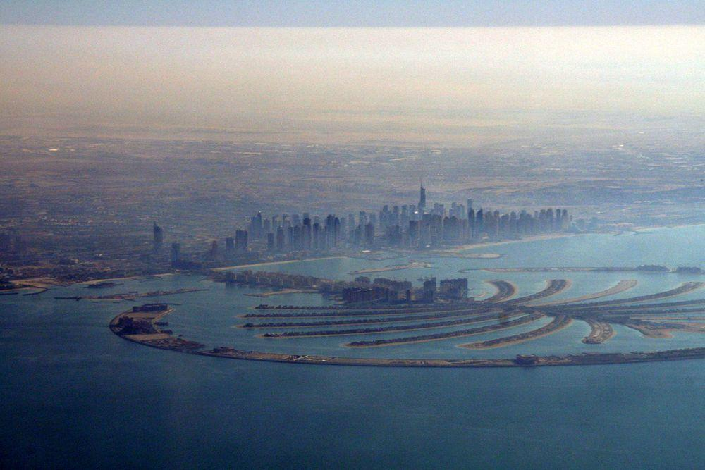 Palm Jumeirah with Dubai in the background