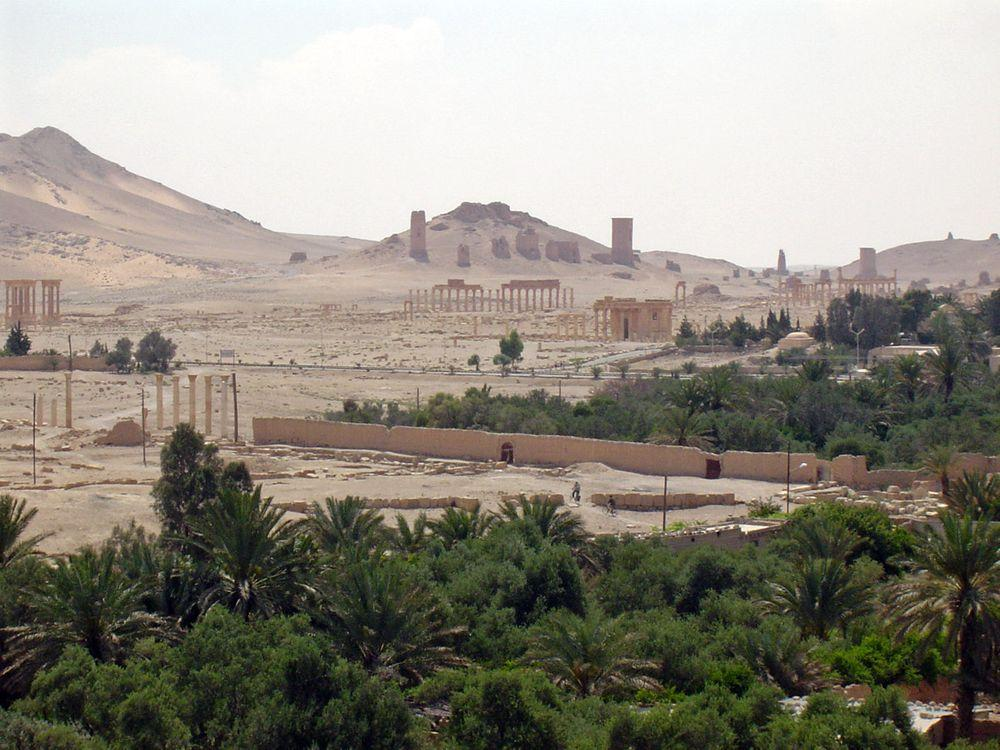 Palmyra, necropolis in the background