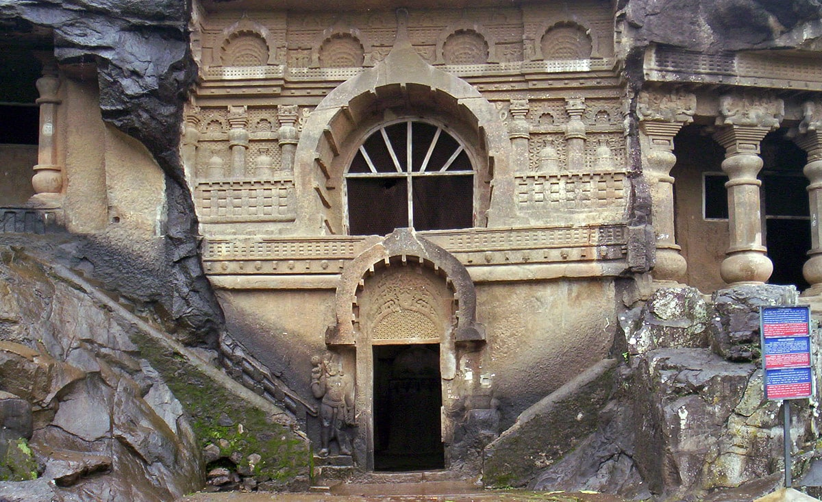 Pandav Leni Caves in Maharashtra, entrance