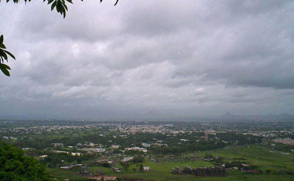 View towards Nashik from Pandav Leni Caves, Maharashtra