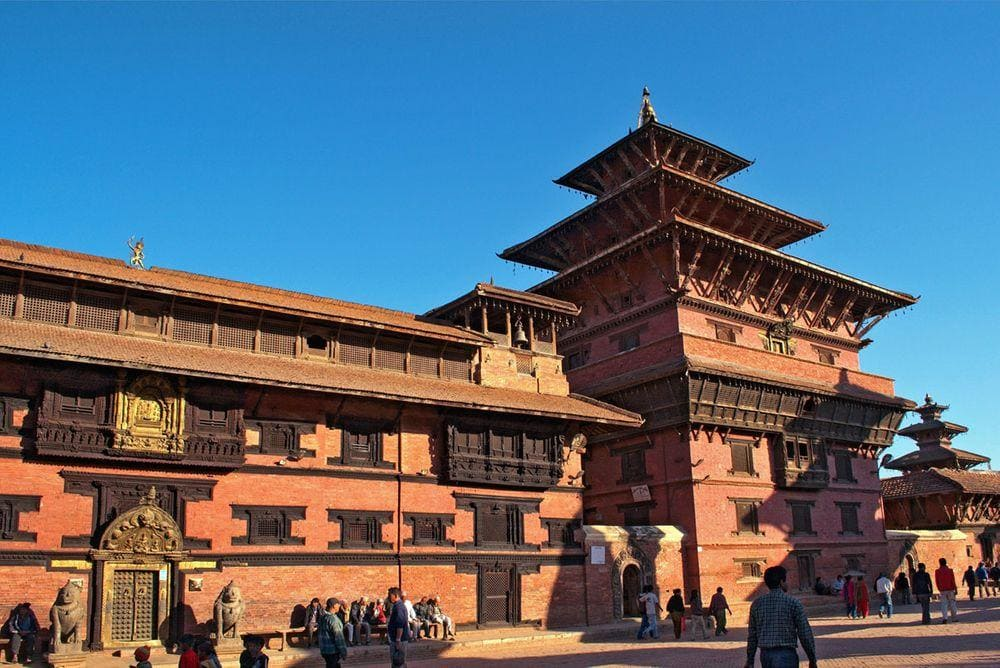 Palace in Patan Durbar Square, Nepal