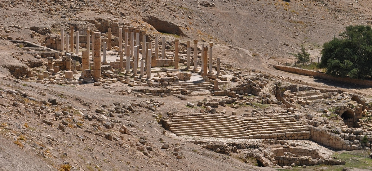 Ruins of Byzantine church in Pella, Jordan
