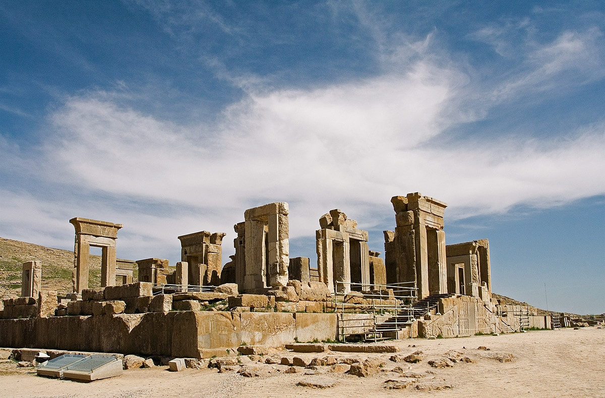 Ruins of palace in Persepolis, Iran