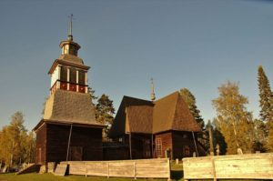 Petäjävesi old church - unique wooden church from the 18th century, Finland