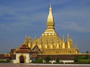 Gold covered Phra That Luang, Laos