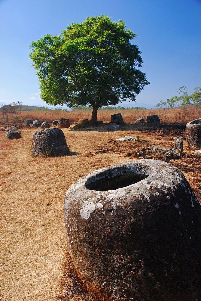 Plain of Jars - one of fields, Laos