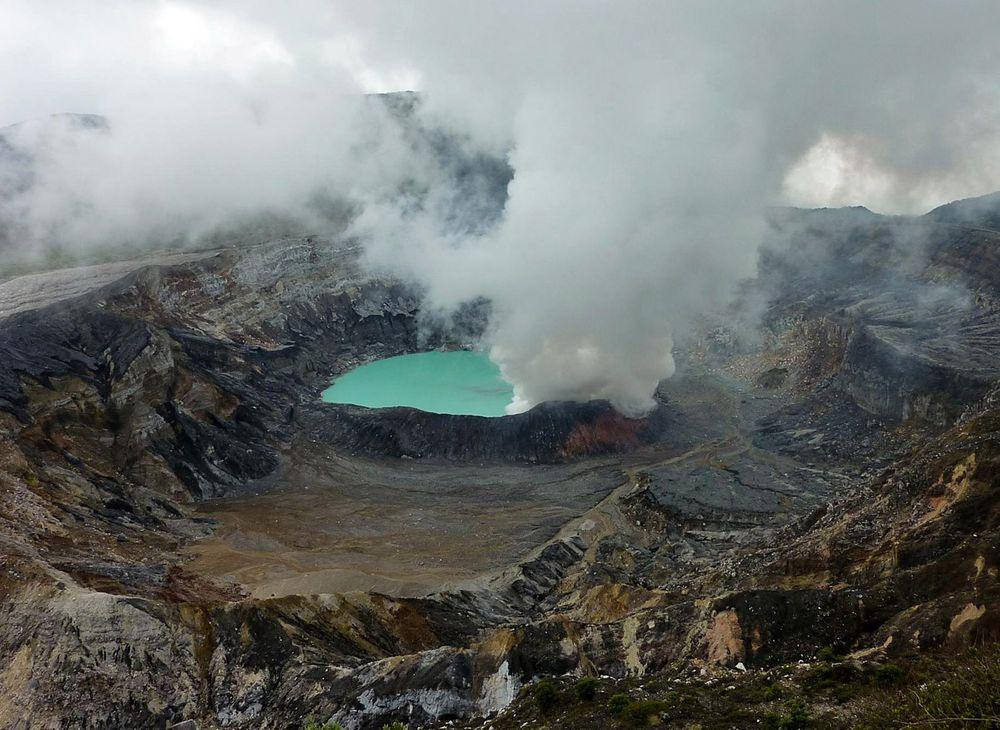 Laguna Caliente in Poas crater, Costa Rica