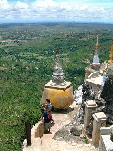 View from Taung Kalat, Burma