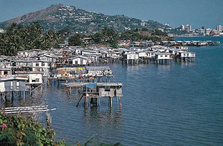 Poreporena village in Port Moresby