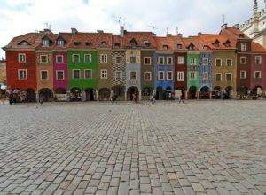 Market square in Poznań Old Town, Poland