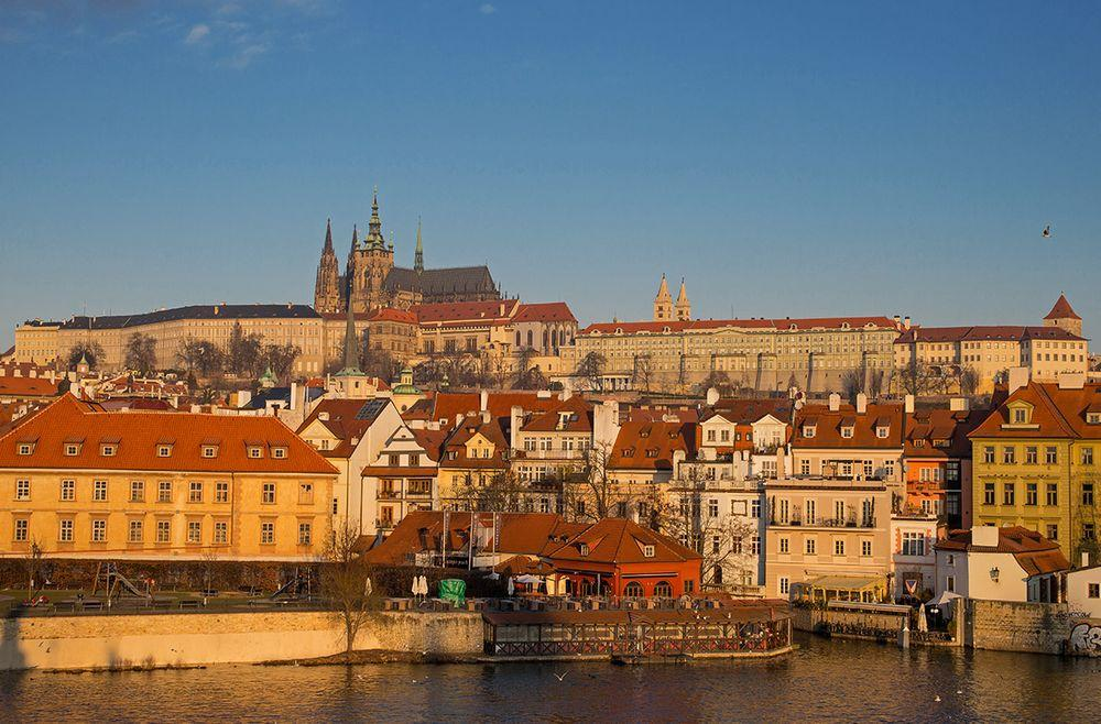 St. Vitus Cathedral rises above Prague Castle