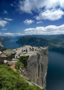 Preikestolen - 604 m tall cliff, Norway
