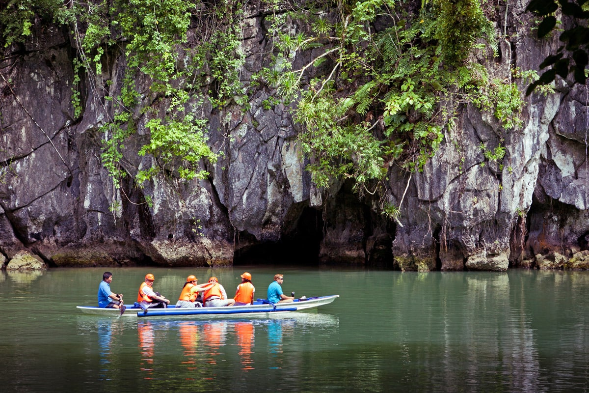 Near the entrance into Puerto Princesa Subterranean River, Philippines