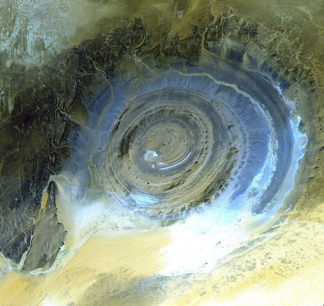 Richat Structure from the space, Mauritania