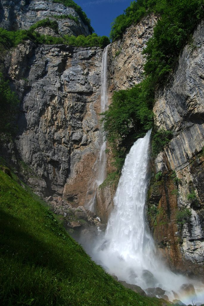Rinquelle with Seerenbach Falls in the background, Switzerland